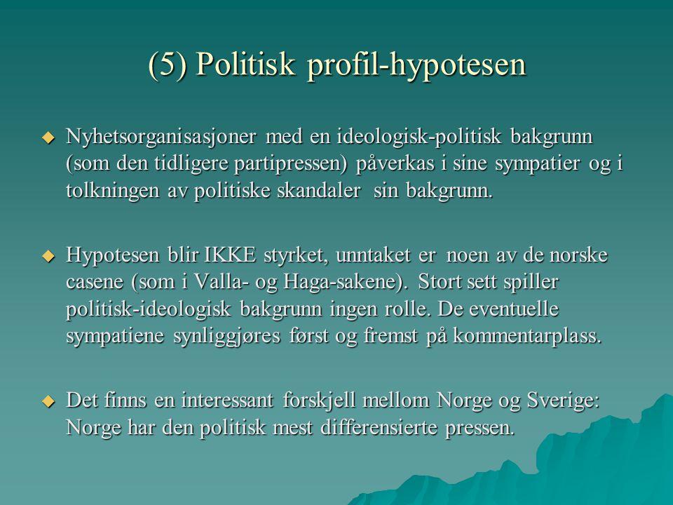 (5) Politisk profil-hypotesen