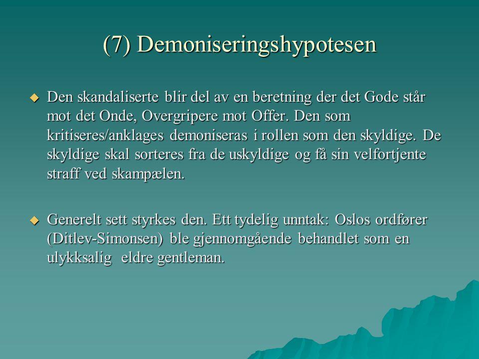 (7) Demoniseringshypotesen