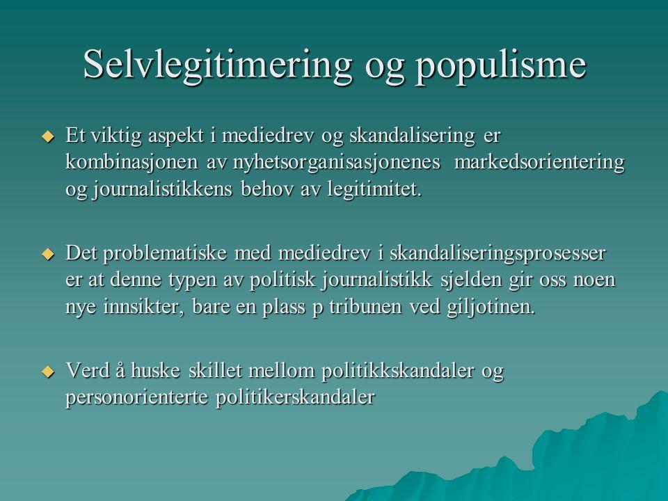 Selvlegitimering og populisme