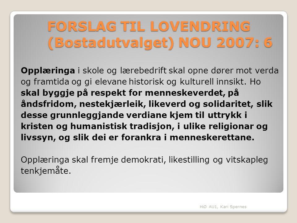 FORSLAG TIL LOVENDRING (Bostadutvalget) NOU 2007: 6