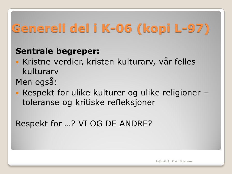 Generell del i K-06 (kopi L-97)