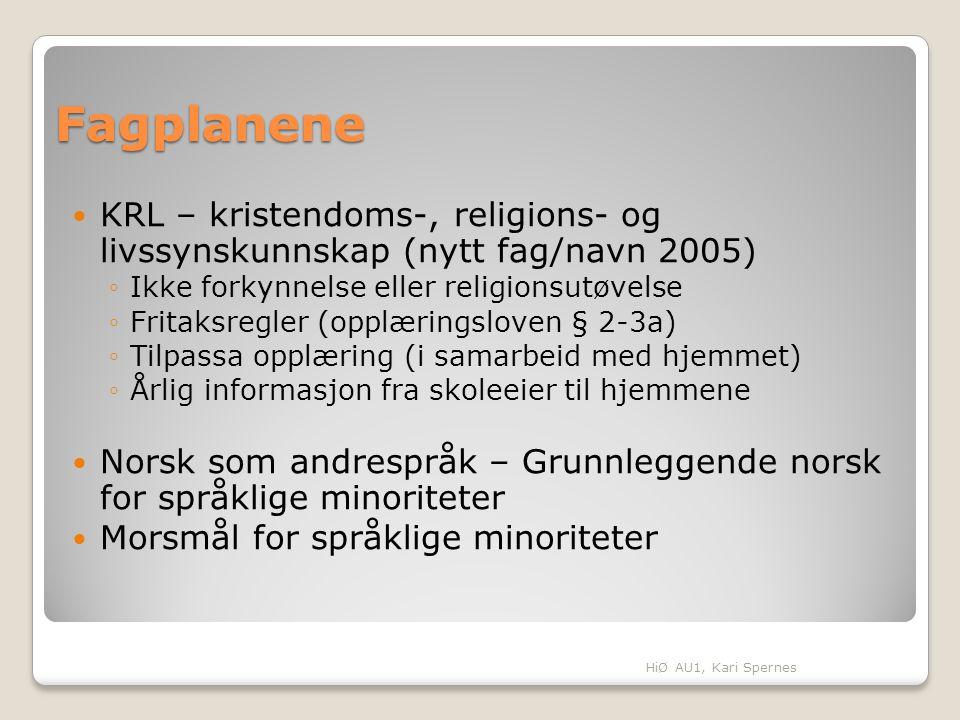 Fagplanene KRL – kristendoms-, religions- og livssynskunnskap (nytt fag/navn 2005) Ikke forkynnelse eller religionsutøvelse.