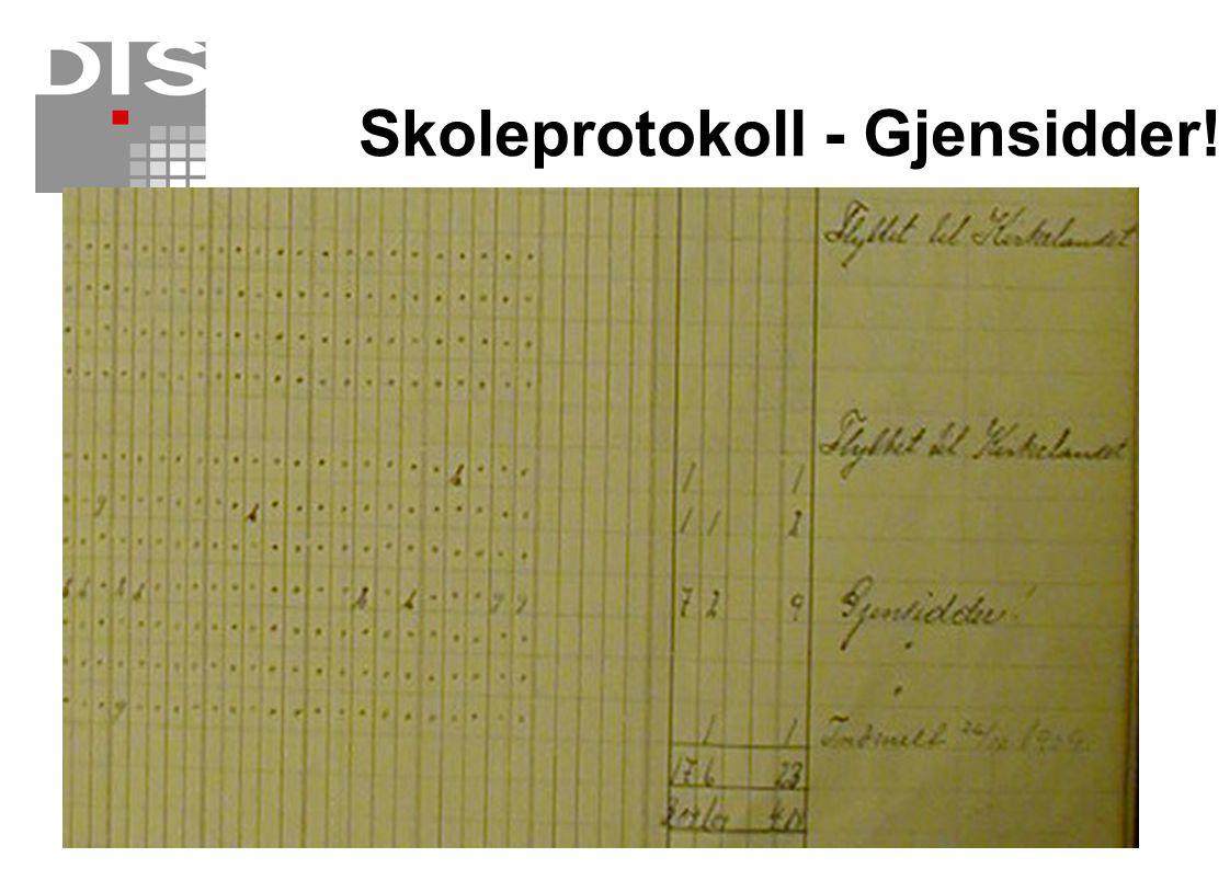 Skoleprotokoll - Gjensidder!