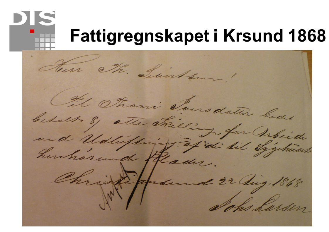 Fattigregnskapet i Krsund 1868