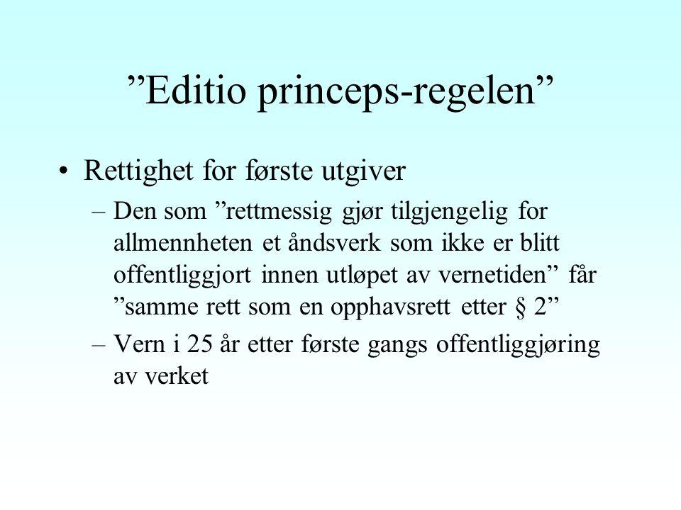 Editio princeps-regelen
