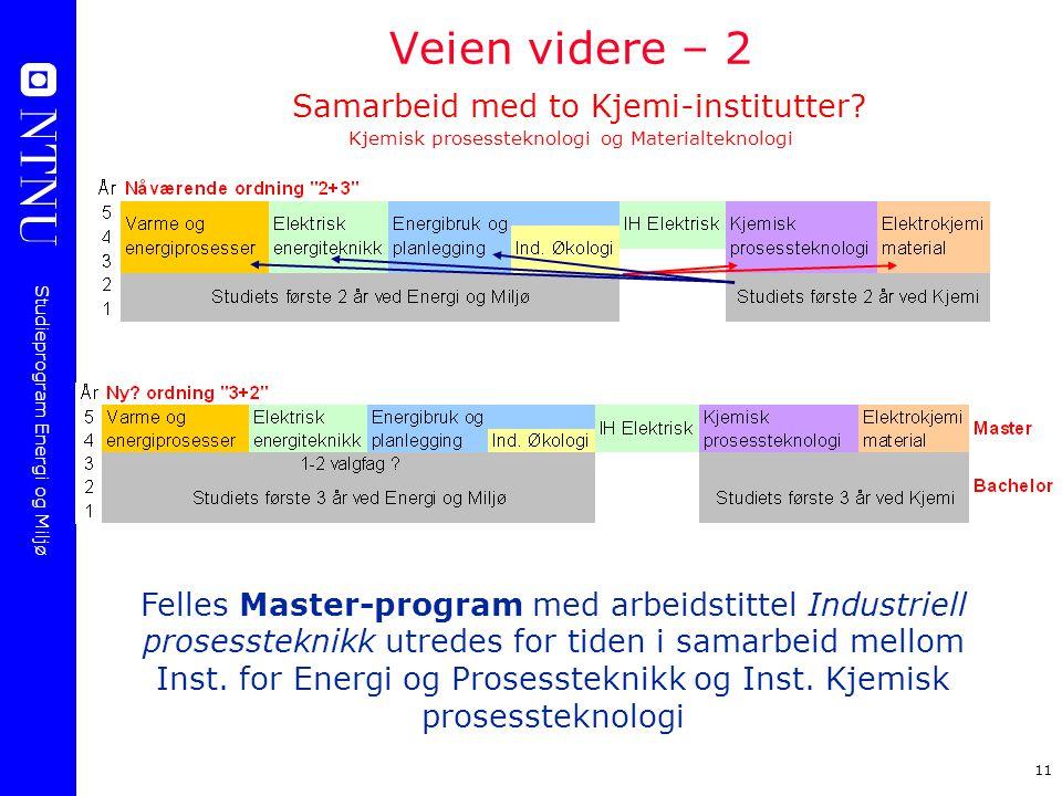 Veien videre – 2 Samarbeid med to Kjemi-institutter
