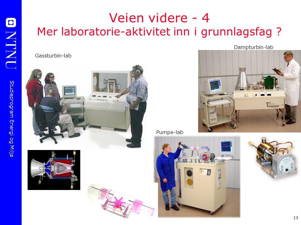 Veien videre - 4 Mer laboratorie-aktivitet inn i grunnlagsfag
