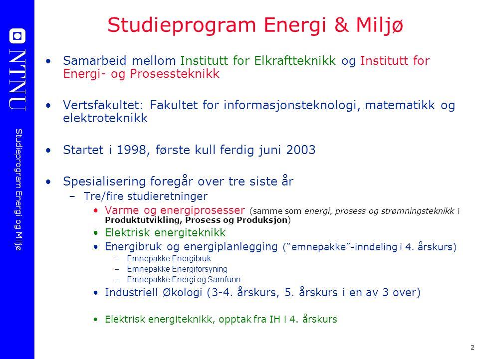 Studieprogram Energi & Miljø