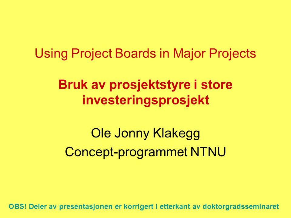 Ole Jonny Klakegg Concept-programmet NTNU