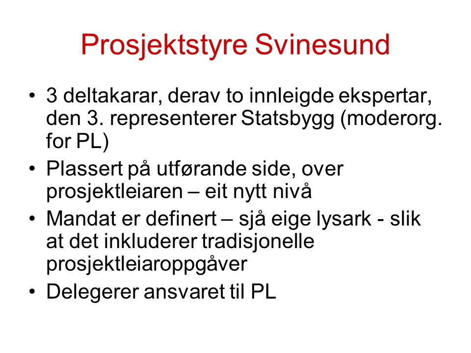 Prosjektstyre Svinesund