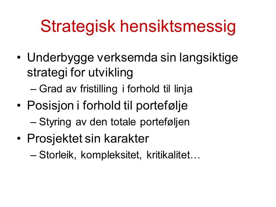 Strategisk hensiktsmessig