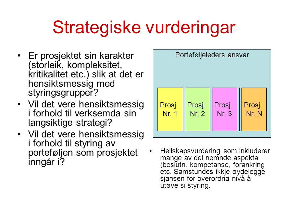 Strategiske vurderingar