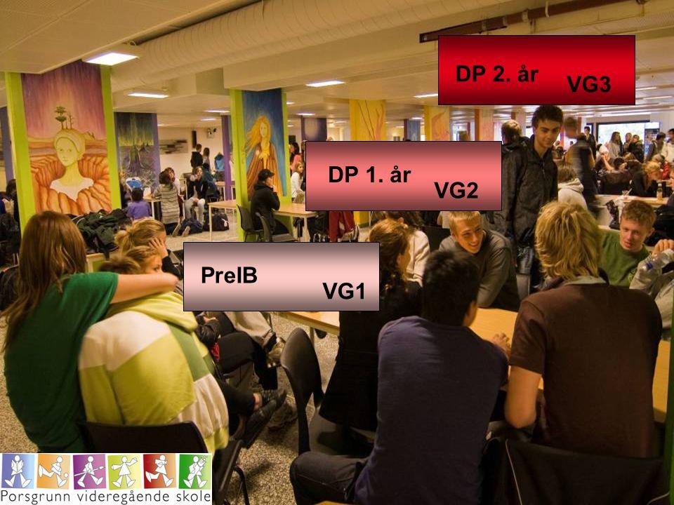 DP 2. år VG3 DP 1. år VG2 PreIB VG1