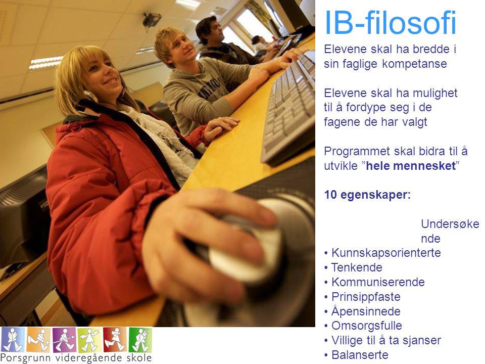 IB-filosofi Elevene skal ha bredde i sin faglige kompetanse