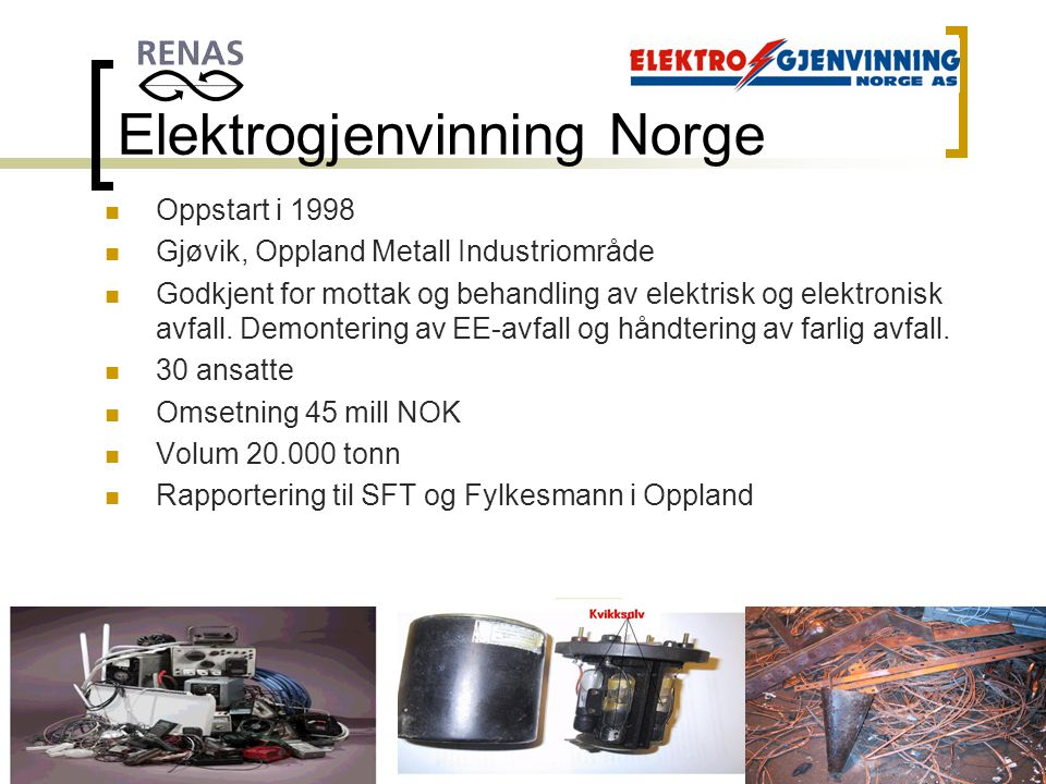 Elektrogjenvinning Norge