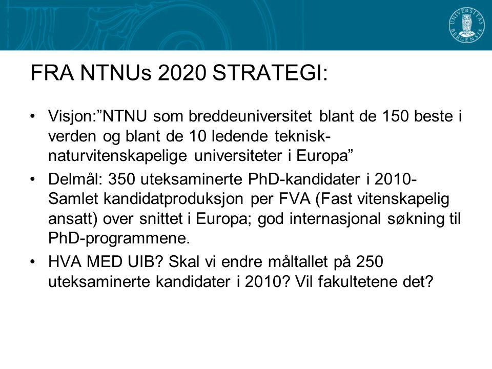 FRA NTNUs 2020 STRATEGI: