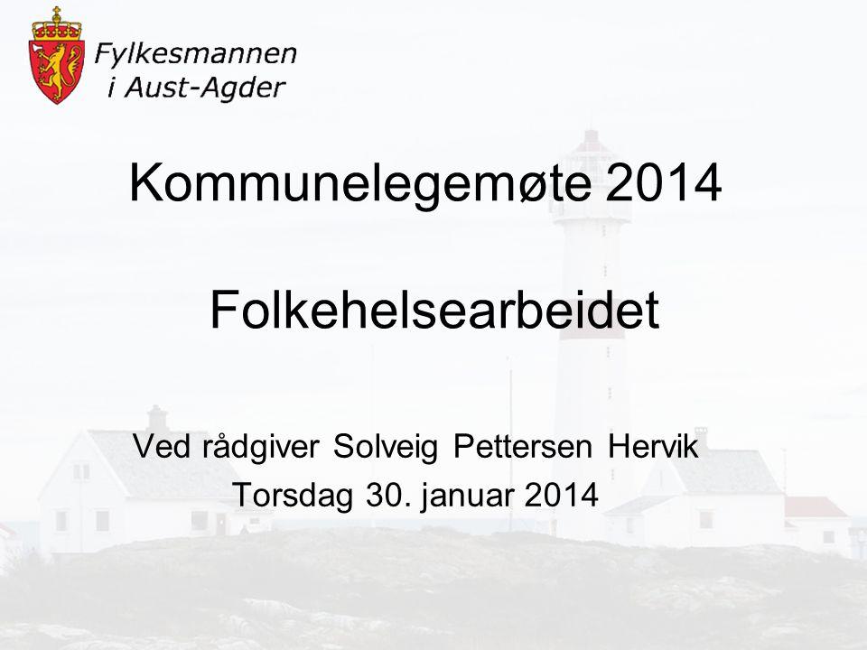 Kommunelegemøte 2014 Folkehelsearbeidet