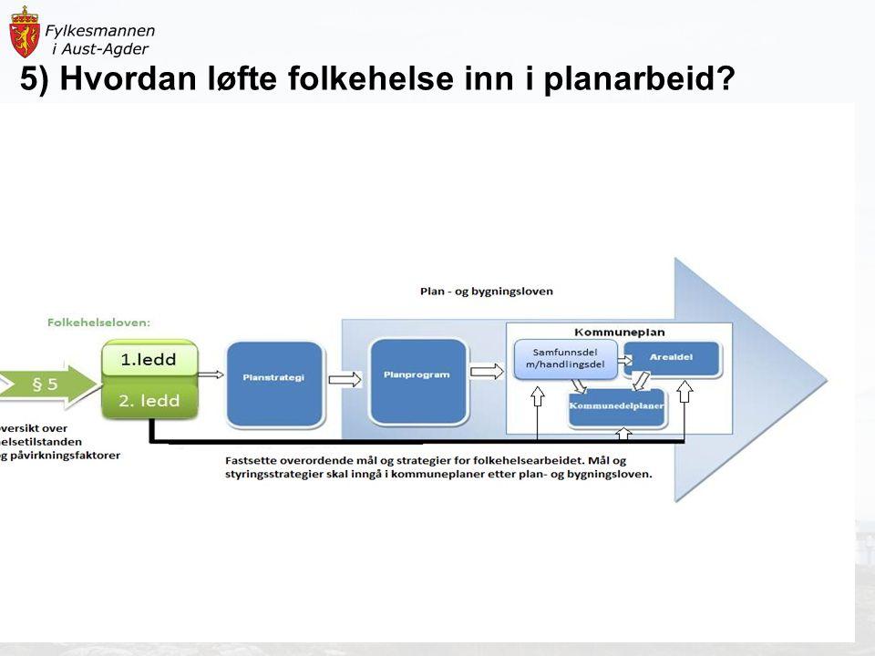 5) Hvordan løfte folkehelse inn i planarbeid