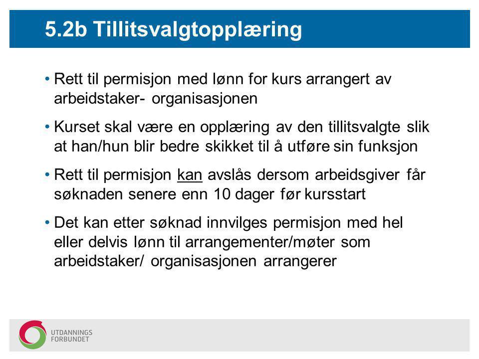 5.2b Tillitsvalgtopplæring