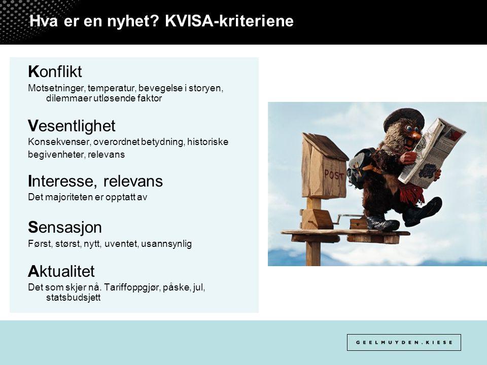 Hva er en nyhet KVISA-kriteriene