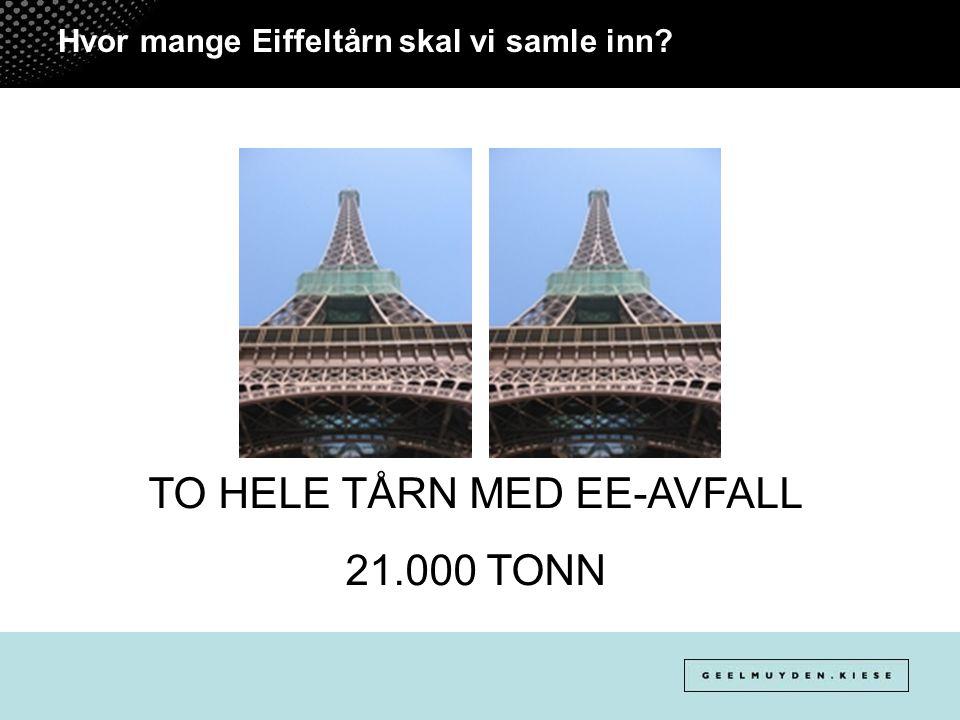 Hvor mange Eiffeltårn skal vi samle inn