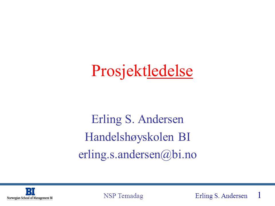 Erling S. Andersen Handelshøyskolen BI erling.s.andersen@bi.no