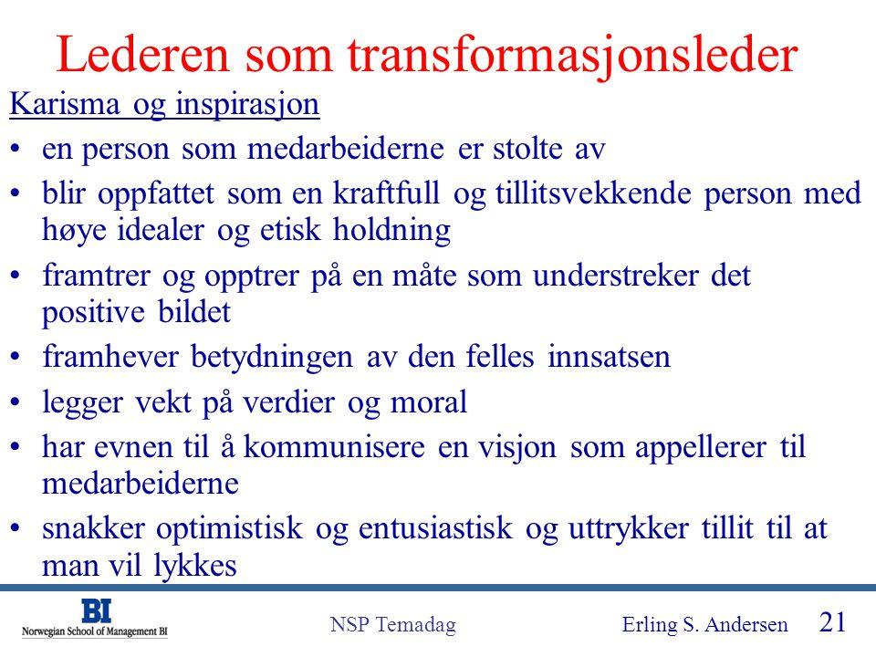 Lederen som transformasjonsleder