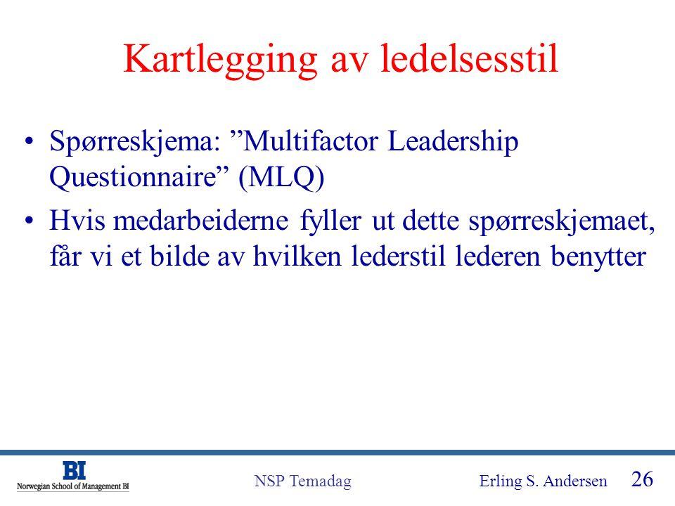 Kartlegging av ledelsesstil