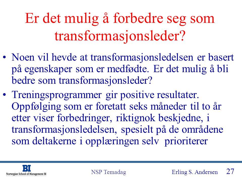 Er det mulig å forbedre seg som transformasjonsleder