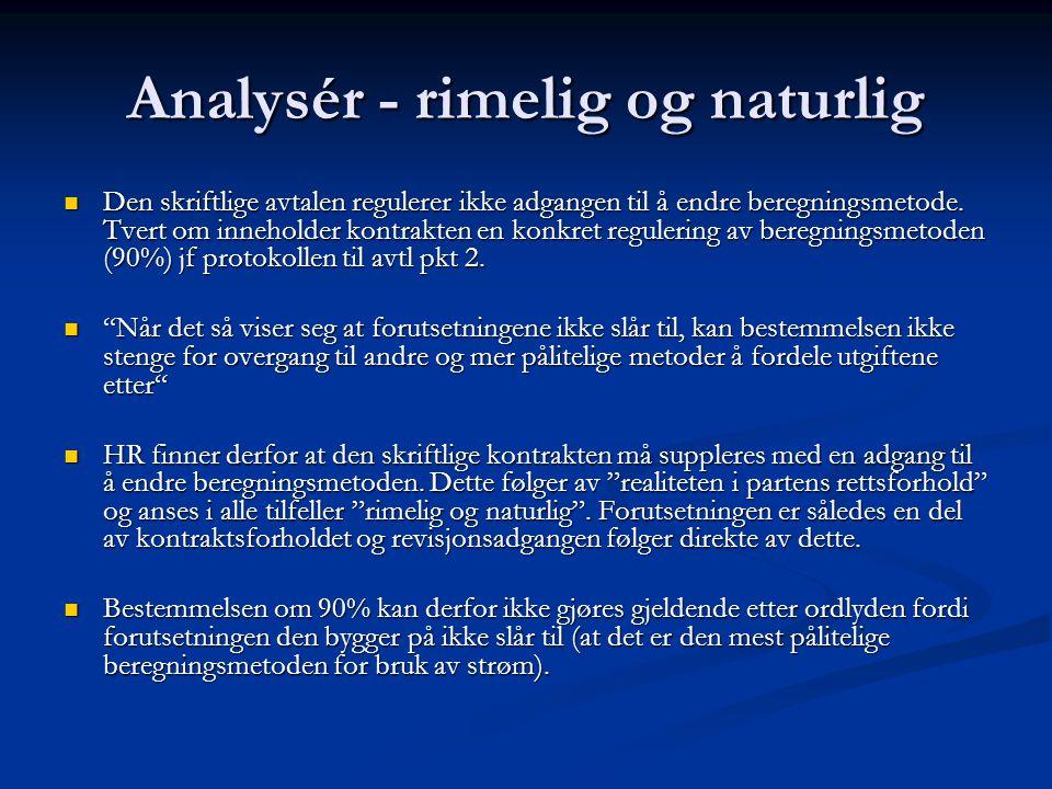 Analysér - rimelig og naturlig