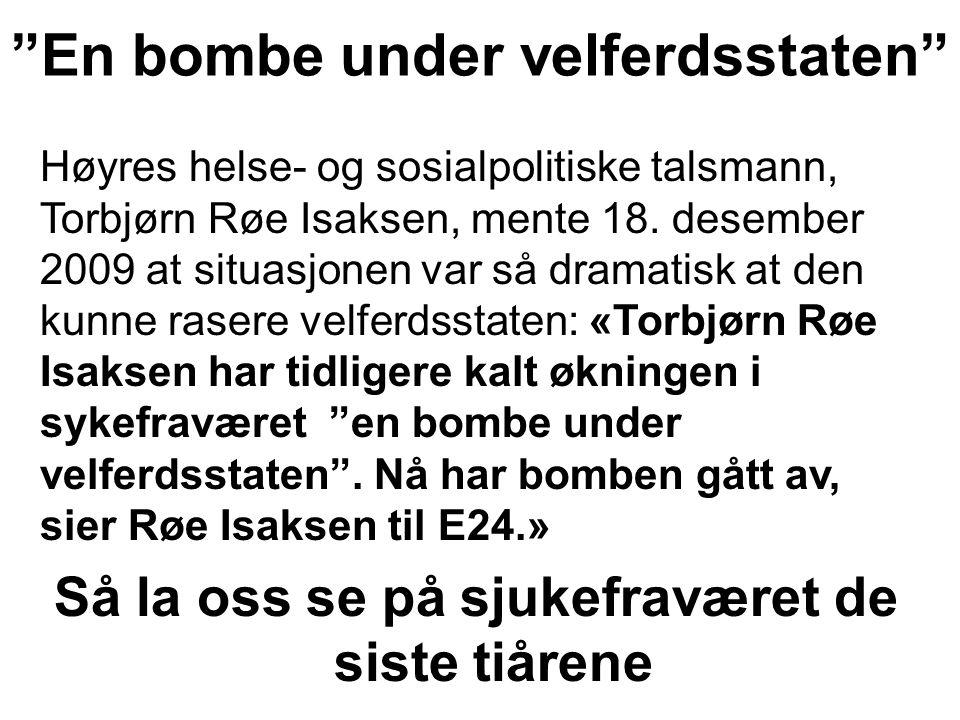En bombe under velferdsstaten