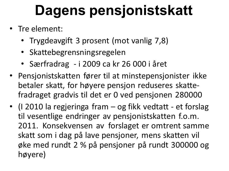 Dagens pensjonistskatt