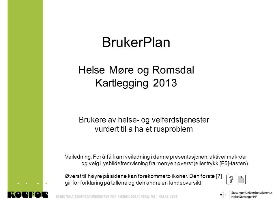 BrukerPlan Helse Møre og Romsdal Kartlegging 2013