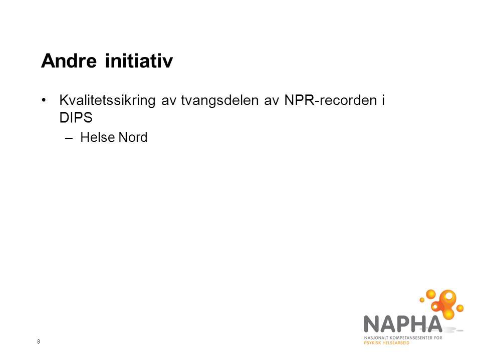 Andre initiativ Kvalitetssikring av tvangsdelen av NPR-recorden i DIPS