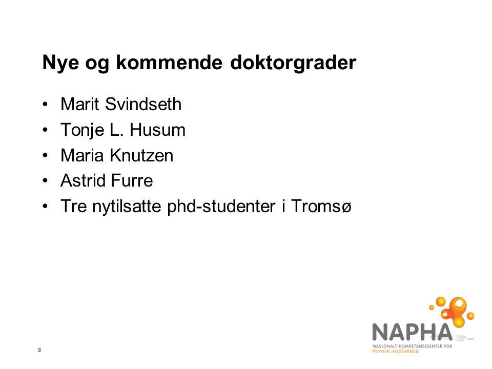Nye og kommende doktorgrader