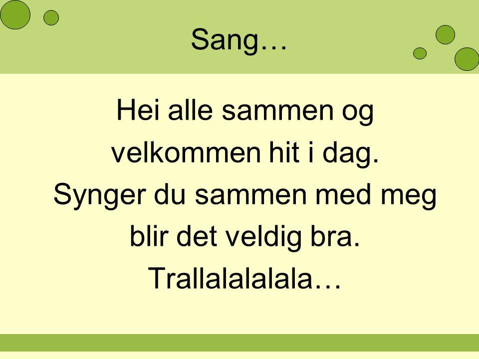 Synger du sammen med meg