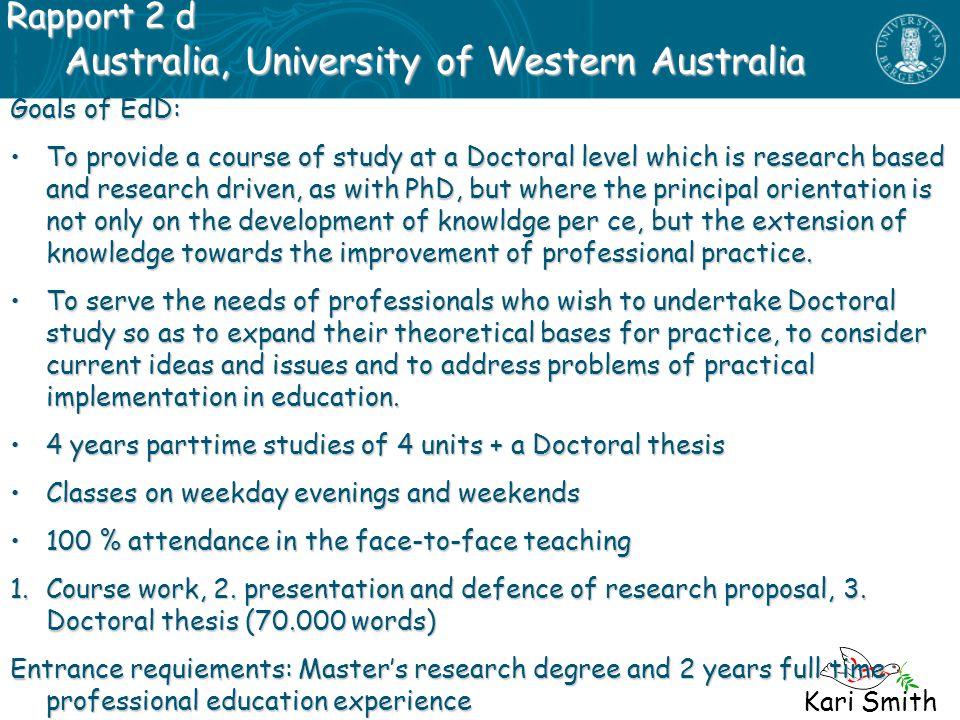 Australia, University of Western Australia