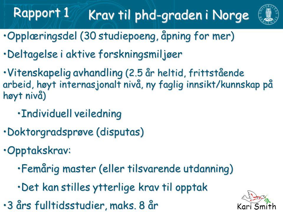 Krav til phd-graden i Norge