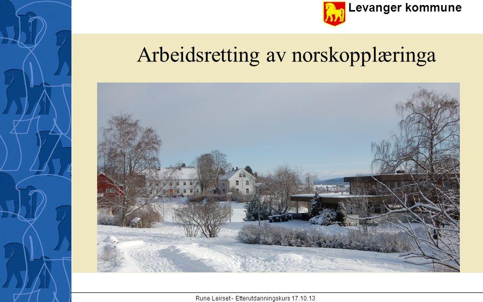 Arbeidsretting av norskopplæringa