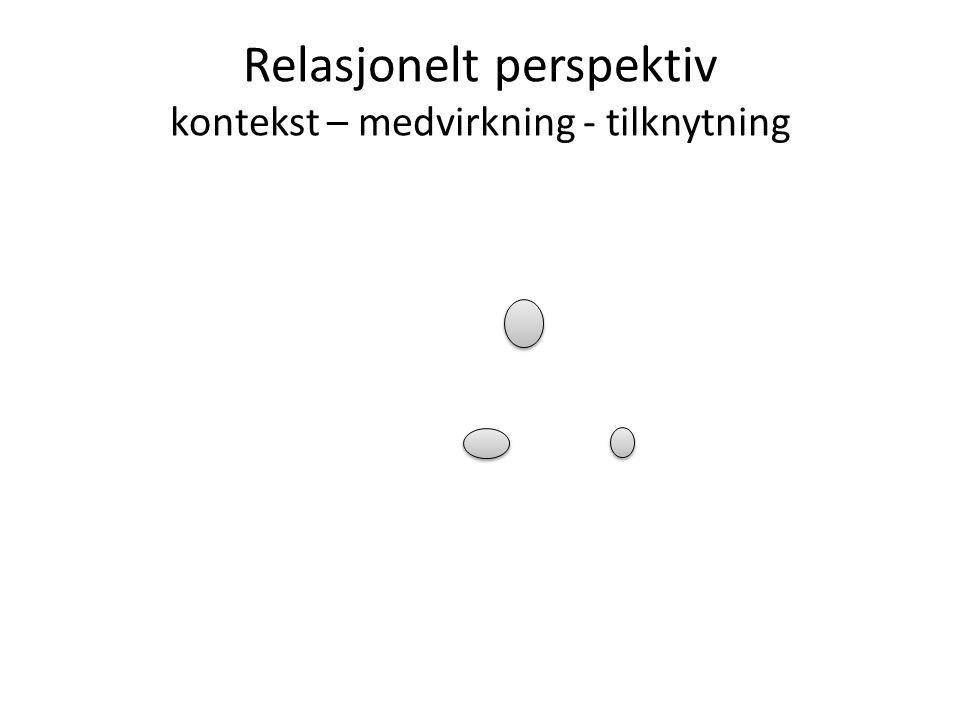 Relasjonelt perspektiv kontekst – medvirkning - tilknytning
