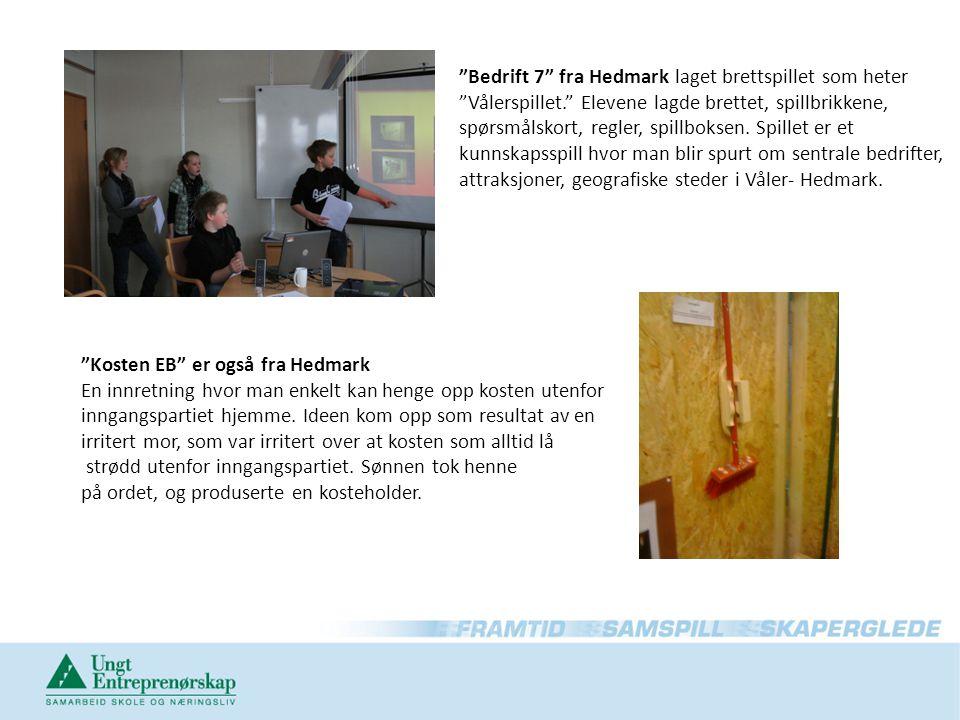 Bedrift 7 fra Hedmark laget brettspillet som heter Vålerspillet