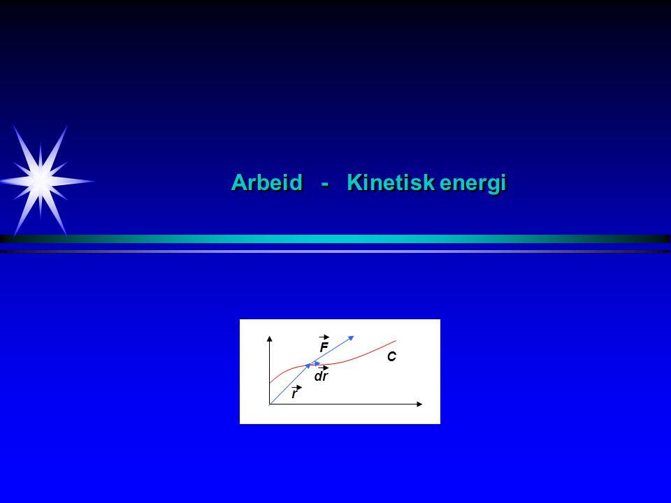 Arbeid - Kinetisk energi