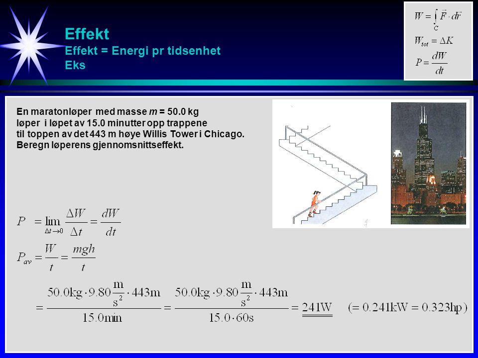 Effekt Effekt = Energi pr tidsenhet Eks