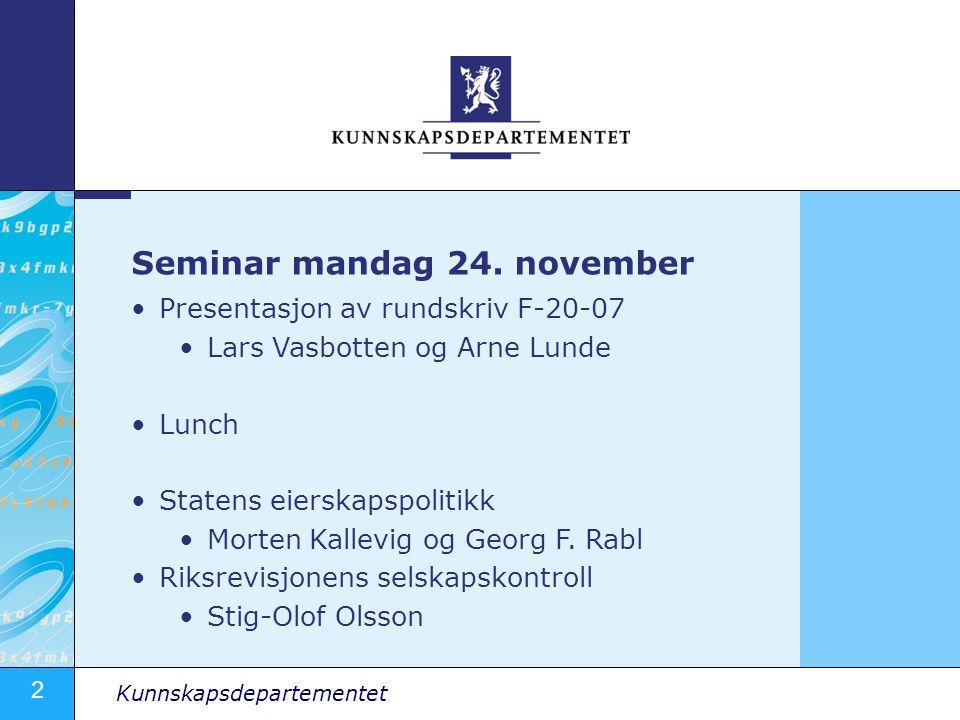 Seminar mandag 24. november