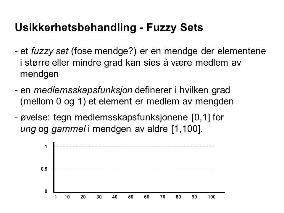 Usikkerhetsbehandling - Fuzzy Sets