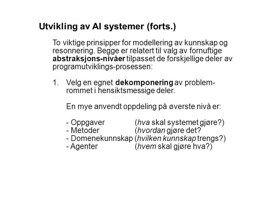 Utvikling av AI systemer (forts.)