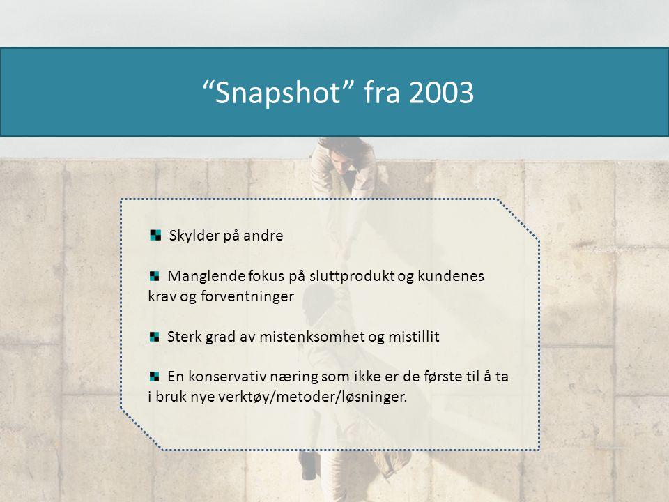 Snapshot fra 2003 Skylder på andre