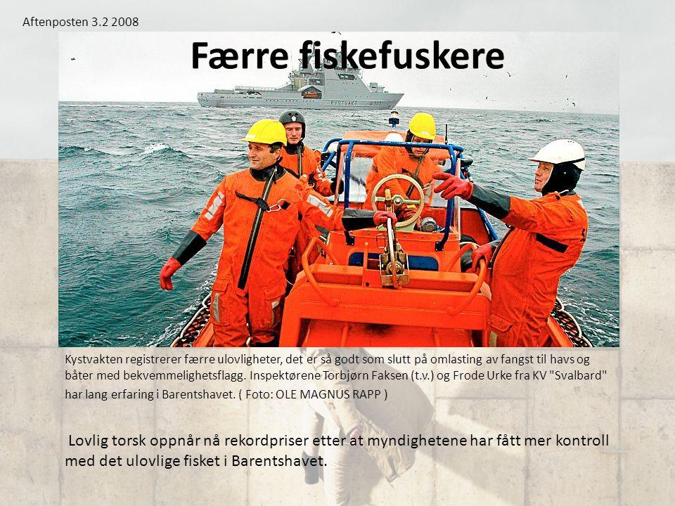 Aftenposten 3.2 2008 Færre fiskefuskere.
