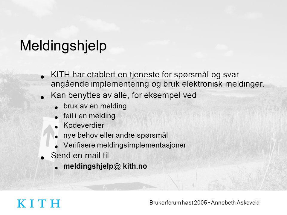 Meldingshjelp KITH har etablert en tjeneste for spørsmål og svar angående implementering og bruk elektronisk meldinger.