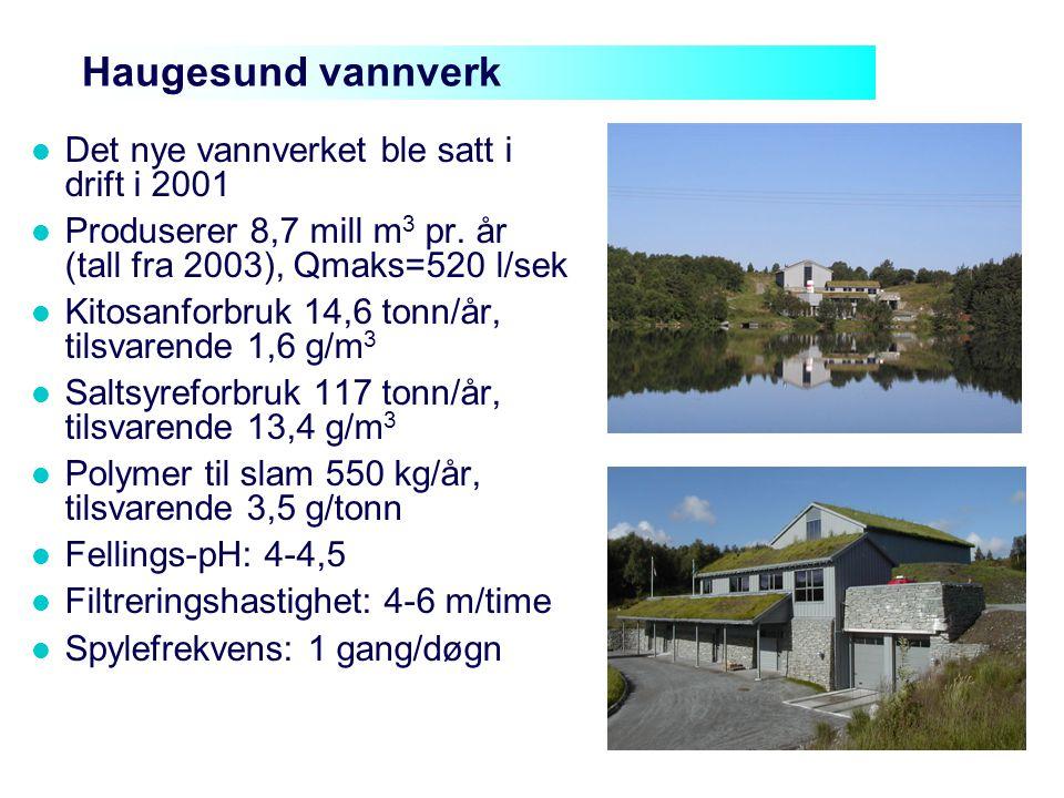 Haugesund vannverk Det nye vannverket ble satt i drift i 2001